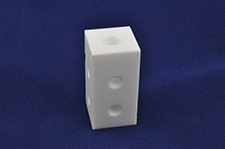 white plastic precision machine part